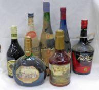 SELECTION OF VARIOUS ALCOHOL TO INCLUDE VIRGINIA GENTLEMAN BOURBON, OYZO,