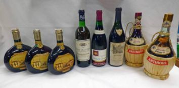 8 BOTTLES OF VARIOUS RED WINES TO INCLUDE MATEUS VINHO ROSE, NUITS ST.