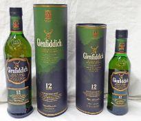 1 BOTTLE GLENFIDDICH 12 YEAR OLD SINGLE MALT WHISKY - 70CL, 40% VOL,
