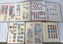 5 STAMP ALBUMS AND STOCKBOOKS OF MINT & USED GB STAMPS FROM QV - QEII TO INCLUDE PENNY REDS,