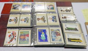 4 ALBUMS OF GB 1973-1993 PHQ CARDS WITH MINT SET TO INCLUDE 1973 CRICKET, MARITIME HERITAGE,