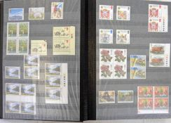 ALBUM OF VARIOUS UK AND FINNISH STAMPS TO INCLUDE SINGLES, DOUBLES, BLOCKS,