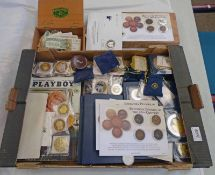 LARGE SELECTION OF GOLD/SILVER PLATED COINS TO INCLUDE BATTLES OF WORLD WAR II,
