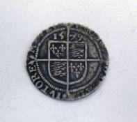 1579 ELIZABETH I SILVER HAMMERED SIXPENCE