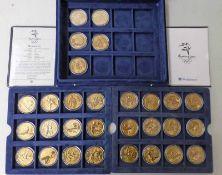 SYDNEY 2000 OLYMPICS AUSTRALIA $5 BRONZE ALLOY 24-COIN SET,