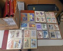 7 ALBUMS OF VARIOUS PHQ CARDS,