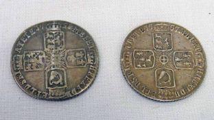 1757 & 1758 GEORGE II SHILLINGS