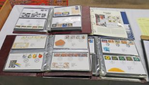 3 ALBUMS OF APPROX 180 FIRST DAY COVERS FROM THE 1980'S ONWARDS TO INCLUDE SAINT COLUMBIA SIGNED BY