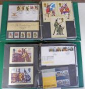 2 ALBUMS OF VARIOUS GB PRESENTATION PACKS, FIRST DAY COVERS, ETC, 1981-1984 TO INCLUDE FISHING,