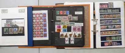 3 ALBUMS OF VARIOUS GB, COMMONWEALTH & WORLDWIDE STAMPS WITH MINT EXAMPLES TO INCLUDE MALTA,