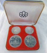 1973 CANADA SILVER PROOF 4-COIN SET FOR 1976 MONTREAL OLYMPICS,