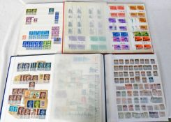 4 STOCKBOOKS OF MINT & USED GB STAMPS TO INCLUDE PENNY REDS, TUPENNY BLUE, CHANNEL ISLANDS,