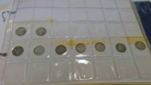 COIN ALBUM TO INCLUDE 9 VICTORIA GROATS, 1843 HALF FARTHING, 1965 U.