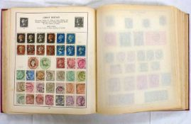 STAMP ALBUM OF VARIOUS MINT AND USED GB AND WORLDWIDE STAMPS TO INCLUDE 4 PENNY BLACKS, PENNY REDS,