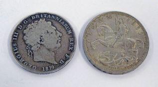 1819 GEORGE III CROWN & 1935 GEORGE V CROWN