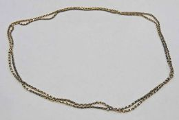 VICTORIAN GOLD GUARD CHAIN, MARKED 9C - 35.9 G Condition Report: Length: 75cm.