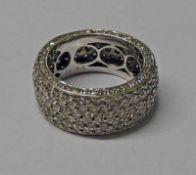 18CT WHITE DIAMOND SET ETERNITY RING,