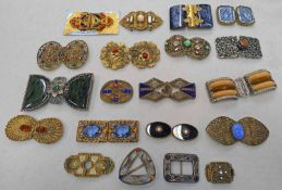 SELECTION OF VARIOUS 20TH CENTURY ART DECO & OTHER BUCKLES
