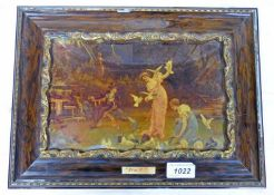19TH CENTURY FRAMED CRYSTOLEUM OVERALL SIZE - 25 X 34 CMS
