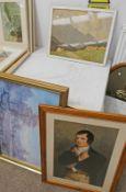 FRAMED PRINT ROBERT BURNS & 3 OTHER PICTURES