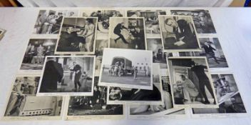 SELECTION OF JAMES BOND 007 GOLDFINGER BLACK & WHITE LOBBY CARDS FEATURING SEAN CONNERY