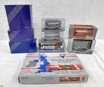 SELECTION OF MODEL BUSES FROM CORGI, EFE ETC INCLUDING ROUTE MASTERS IN EXILE, THE NORTH SET,