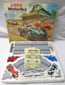 AIRFIX MOTORACE ELECTRIC SLOT RACING SET TOGETHER WITH JAQUES MINI MASTER SNOOKER TABLE.