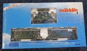 MARKLIN MAXI 54102 - BAVARIAN TRAIN SET INCLUDING E-69 ELETRIC LOCOMOTIVE, 2 PASSENGER CARS,