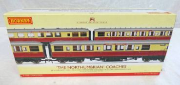 HORNBY R4228 00 GAUGE THE NORTHUMBRIAN COACHES PACK.