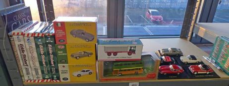 SELECTION OF VARIOUS ITEMS INCLUDING EDDIE STOBART RELATED DVDS,
