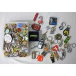 SELECTION OF VARIOUS BADGES/PINS FROM BRANDS SUCH AS GUINESS, MICHELIN,