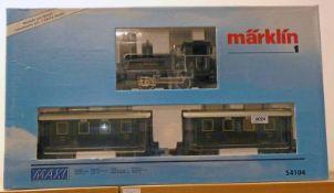 MARKLIN MAXI 54104 - BAVARIAN LOCAL RAIL ROAD TRAIN SET INCLUDING ROYAL BAVARIAN STATE RAILROAD (K.