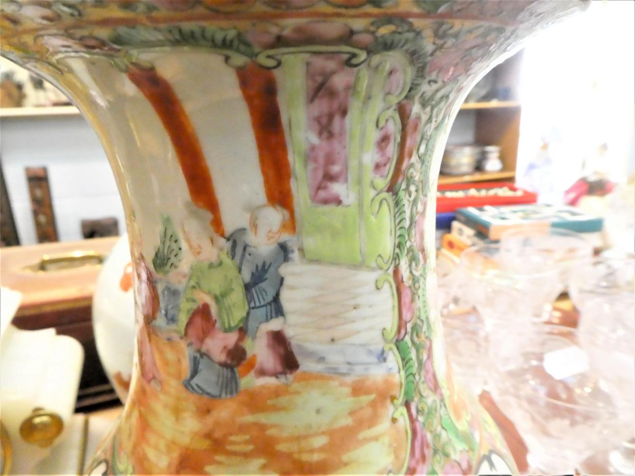 Lot 47 - A 19th century Canton famille rose vase