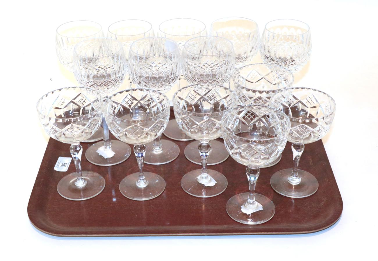 Lot 50 - A set of eight Waterford stemmed glasses; with a set of six wine glasses (14)
