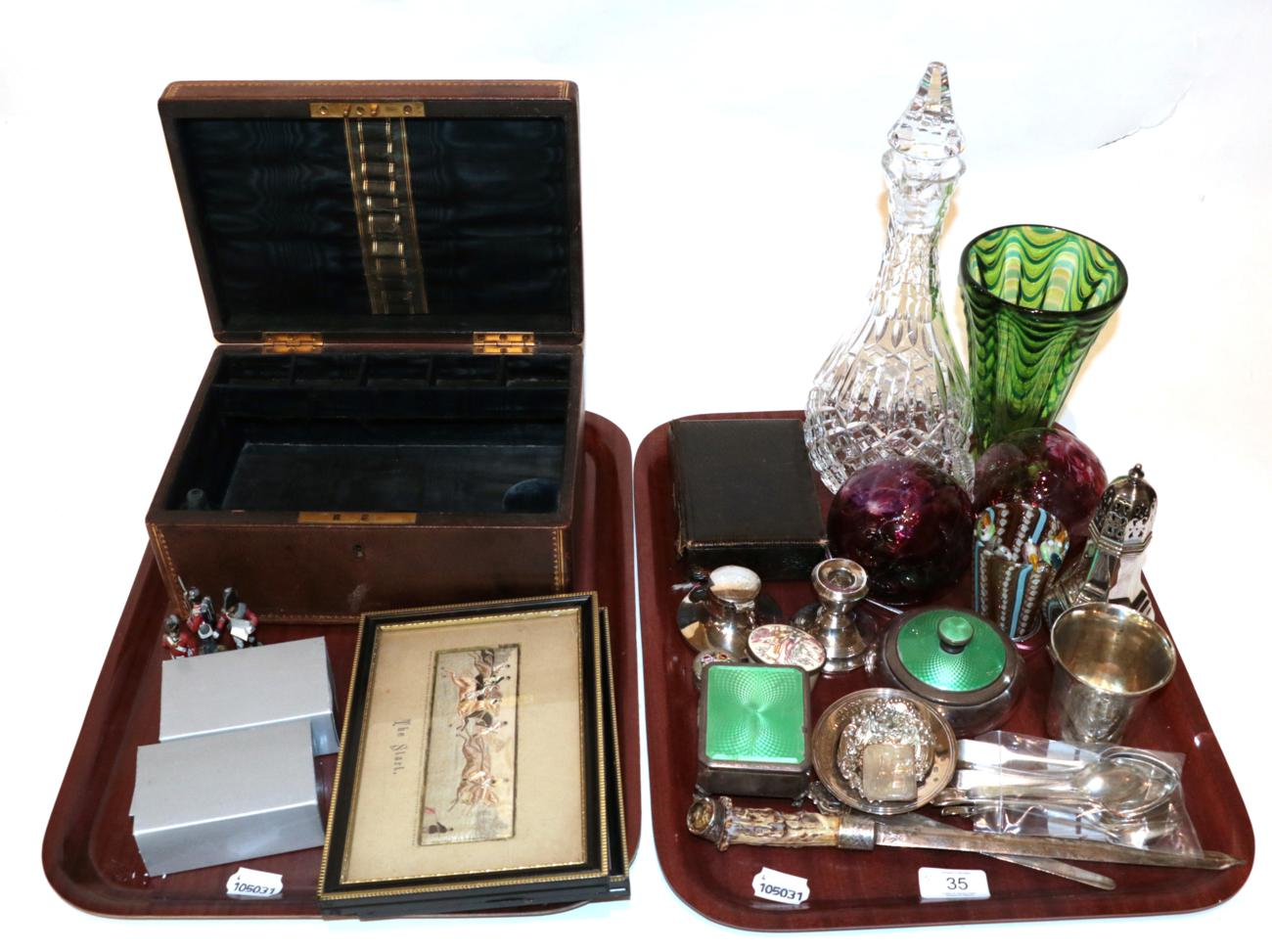 Lot 35 - A group lot of silver, silver plate and other items including: a group of spoons; silver and