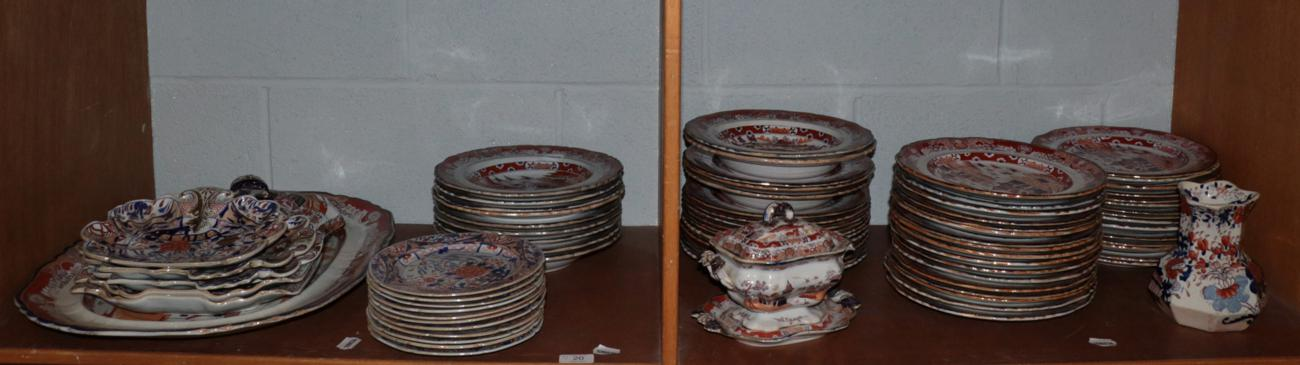 Lot 20 - A large quantity of Masons Ironstone dinner wares including dinner plates; serving plates; bowls etc