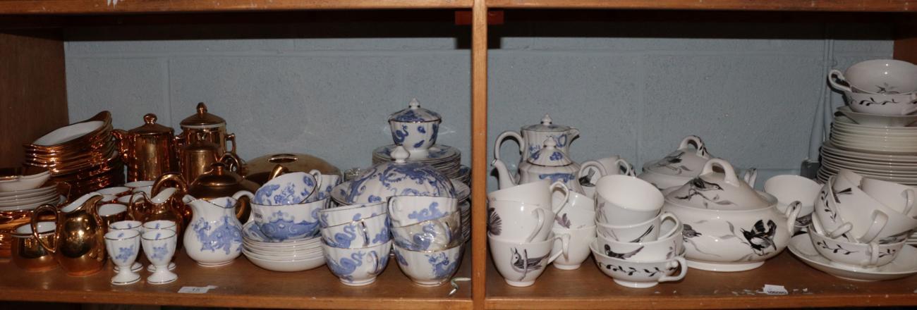 Lot 15 - A part Royal Worcester 'Blue Dragon' pattern tea set comprising: cups, saucers, side plates etc;
