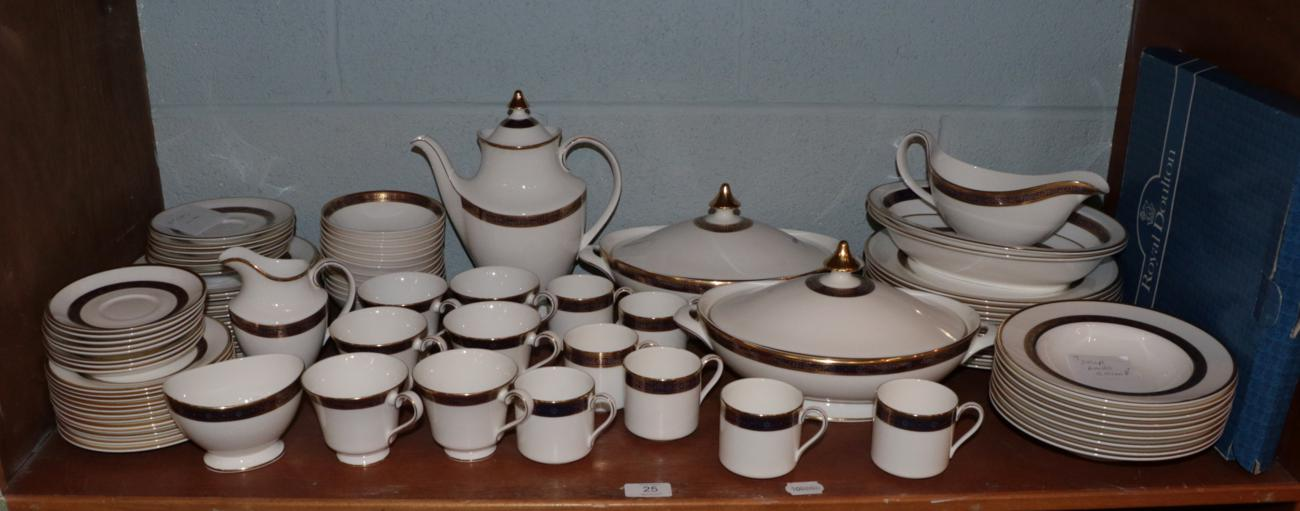 Lot 25 - A Royal Doulton Harlow pattern part dinner, tea and coffee service