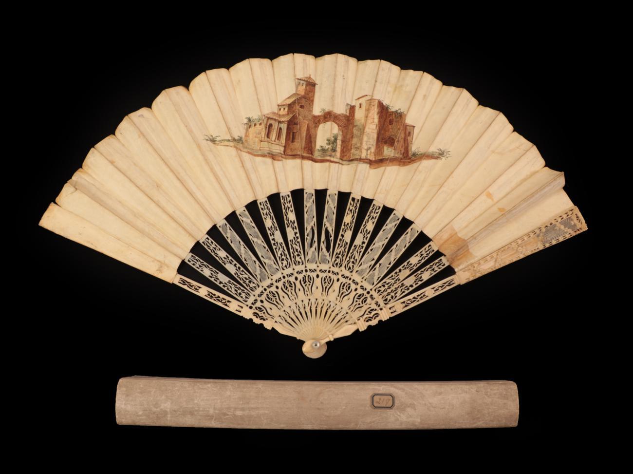 Lot 4017 - The New Paris Conversation Fan for 1802: a small Regency paper fan,