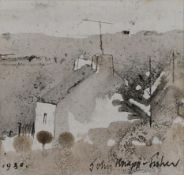 John Knapp-Fisher RCA (1931-2015) ''House on Vachelich Moor'' Signed and dated 1980, inscribed