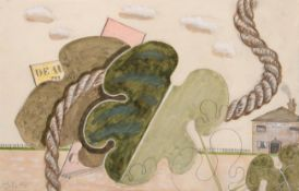 John Banting (1902-1972) Surrealist Composition Signed and dated 1928, pencil and watercolour,