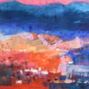 Caroline Bailey RSW (b.1953) ''Andalusian Village'' Signed, inscribed verso, gouache, 86cm by 86cm