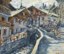 Sergei Chepik (1953-2011) Russian/French ''Megève'' Signed and dated 1995, inscribed verso,