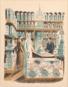 Eric Ravilious (1903-1942) ''Wedding Cakes'' Lithograph from the 1938 ''High Street'' series