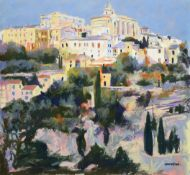 Tony Brummell-Smith (b.1949) ''Gordes- Summer'' Signed, inscribed verso and dated 2003, pastel, 67cm