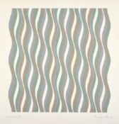 Bridget Riley CH, CBE (b.1931) ''Coloured Greys III'' Signed, inscribed and dated (19)72, numbered