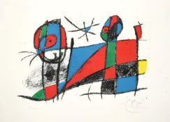 After Joan Miró (1893-1983) Spanish ''Le Chat Heureux'' / The Happy Cat, 1975 Signed and numbered
