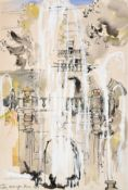 Teddy Millington Drake (1932-1994) ''Tivoli'' Signed, inscribed and dated 1958, mixed media, 51cm by