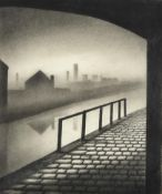 Trevor Grimshaw (1947-2001) ''Canal Study'' Signed, inscribed to artist's label verso, pencil,