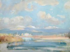 Arthur Henry Knighton Hammond (1875-1970) ''River Sea, Porto Maurizio, Liguria, Italy'' Signed,